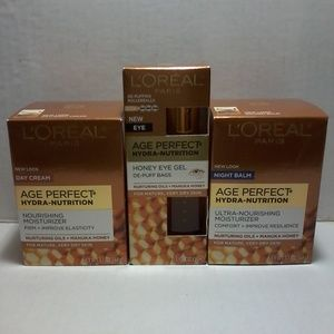 L'oreal Age Perfect Hydra Nutrition Facial 3pc Set